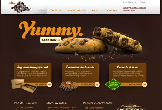 10 contoh desain web ecommerce food beverage yang eye for Cuisine site